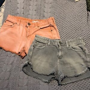 Two pairs of free people shorts!